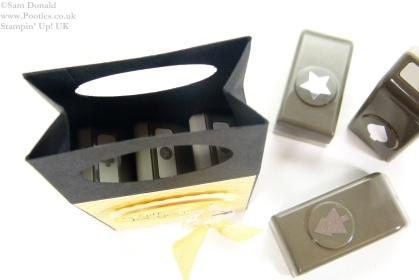 POOTLES Stampin Up UK Mini Gift Bag Box