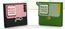 Stampin' Up! UK Demonstrator Pootles - Post It Pouches in School Colours Tutorial