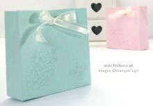 Stampin' Up! UK Demonstrator Pootles - Pandora Style Bag with Bow Close Tutorial