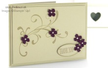 Stampin' Up! UK Demonstrator Pootles - Sahara Sand meets Blackberry Bliss