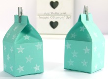 Stampin' Up! UK Independent Demonstrator Pootles - Mini Milk Carton And Carrier Tutorial Milk Cartons