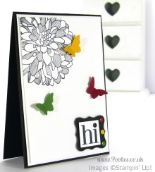 Stampin' Up! UK Independent Demonstrator Pootles - Regal Regarding Dahlias and Butterflies