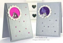South Hill & Stampin' Up! Coloured Glimmer Paper Cheat Tutorial