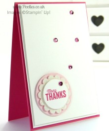 Stampin' Up! UK Demonstrator Pootles - Another Thank You. Scattered with Sequins